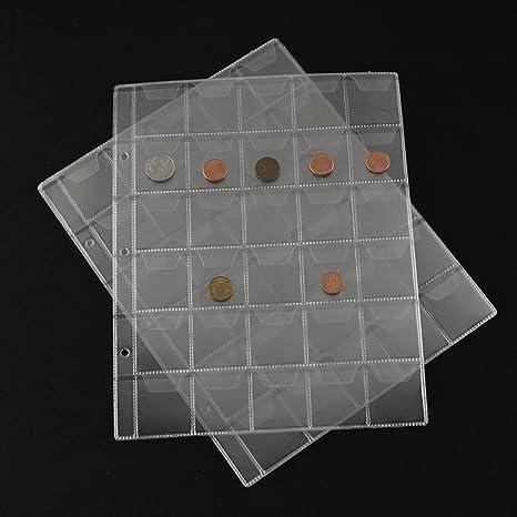 af14b1bd26 KCGOGH-EEJT 360 tasche plastica moneta titolari stoccaggio, collette album  caso timbro moneta protettore