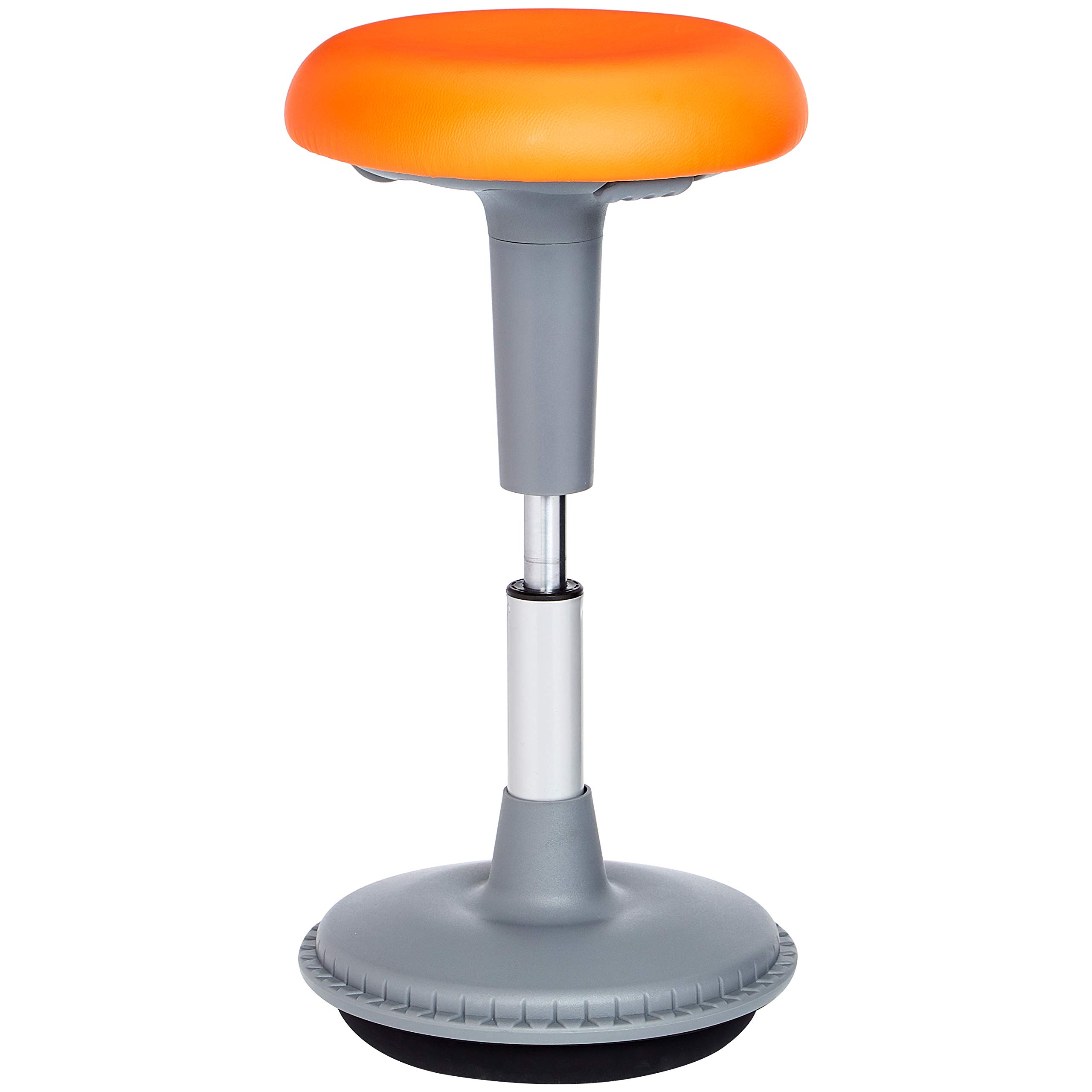 AmazonBasics Adjustable Tilt Stool, Orange
