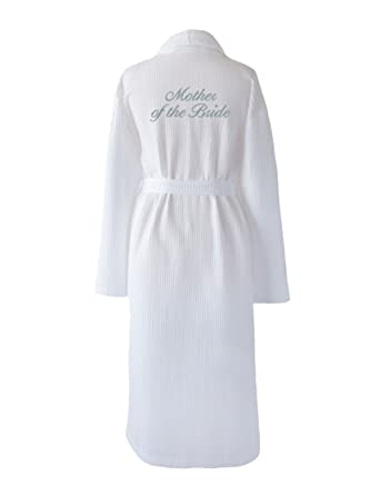 Mother of the Bride White Wedding Dressing Gown embroidered in ...