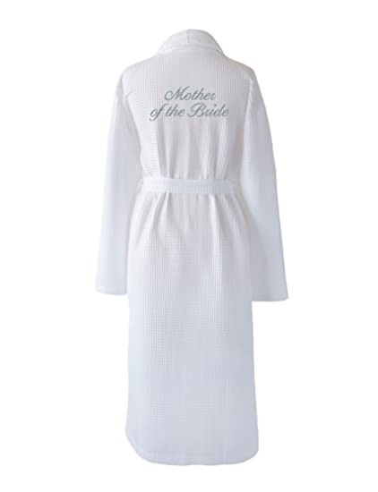 68fc080cf4 Mother of The Bride White Wedding Dressing Gown Embroidered in Silver  Thread (Extra Small (XS))  Amazon.co.uk  Clothing