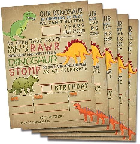 Amazon.com: Invitaciones de cumpleaños de dinosaurio ...