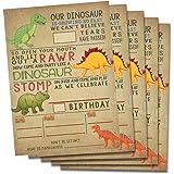 Dinosaur birthday invitations party decoration, fill in 5x7 invites, Boy T-Rex Dino Party.