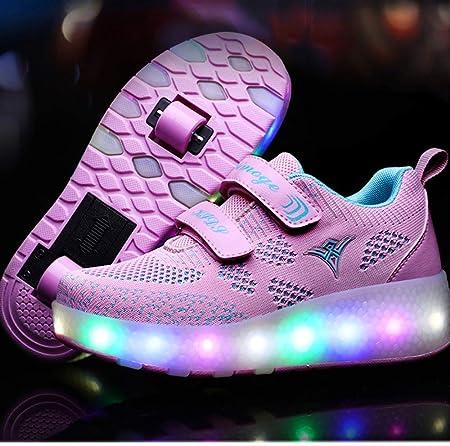 Chaussures à roulettes, Multicolore LED Chaussures Baskets