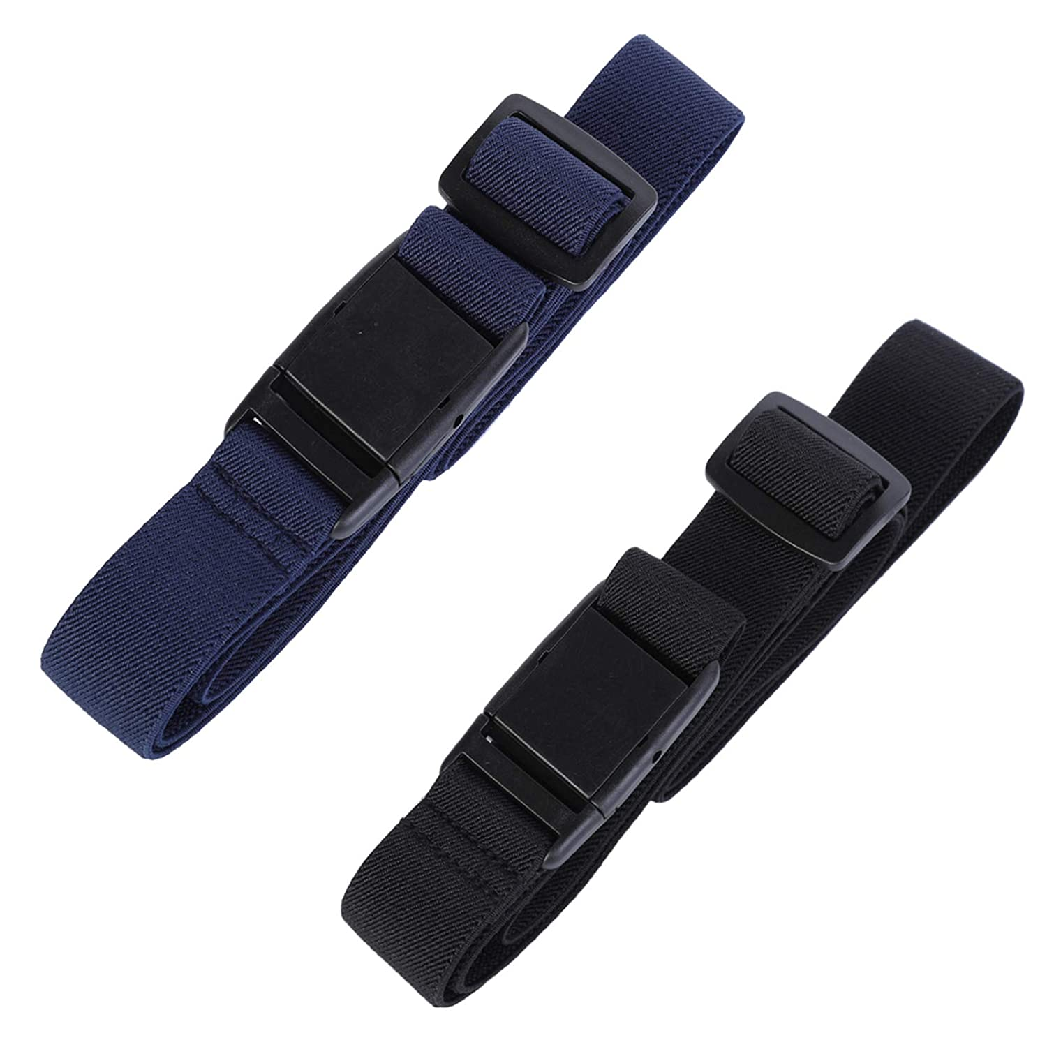 Womens Invisible Belt Elastic Adjustable - No Show Web Belts For Women (Khaki/Navy blue/Black) GY024C6JH01