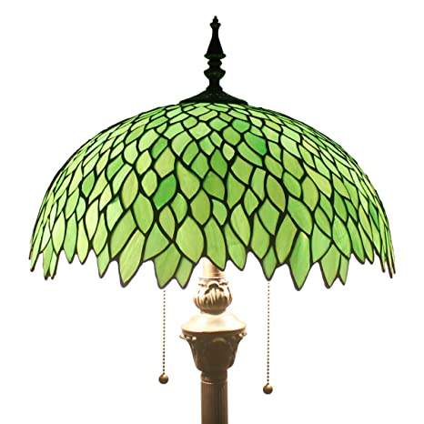 Green Wisteria Tiffany Style Floor Standing Lamp 64 Inch Tall