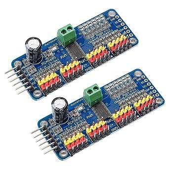 2 PCA9685 16 canaux IIC I2C 12 bits PWM Servo Moteur Module pour Arduino Robort