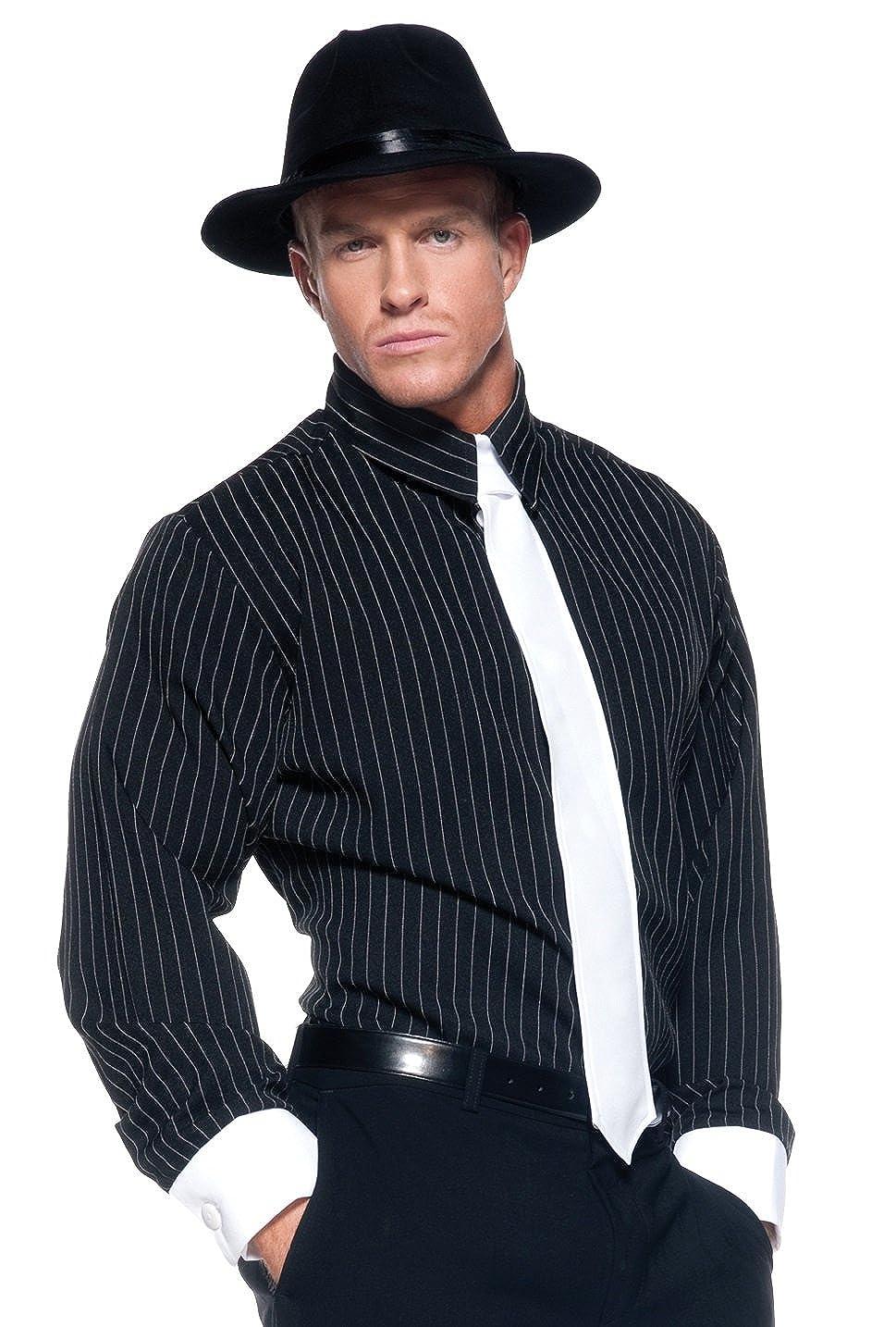 Striped Shirt Mens Mobster Costume