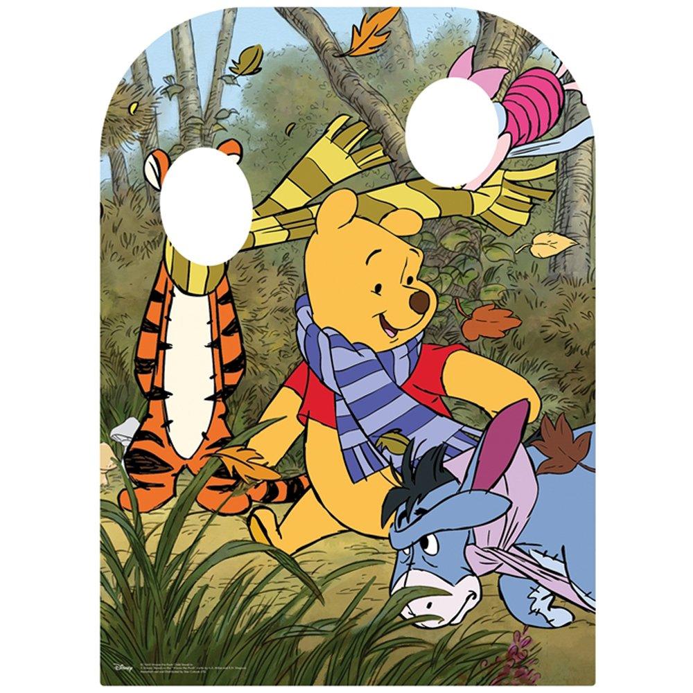 Disney Winnie l'ourson, Eeeyore et Tigrou Forêt des rêves Bleus avec Vos Amis Taille Enfant Visage Carte Planche à découpe, Carton, Multicolore, 131x 95x 131cm