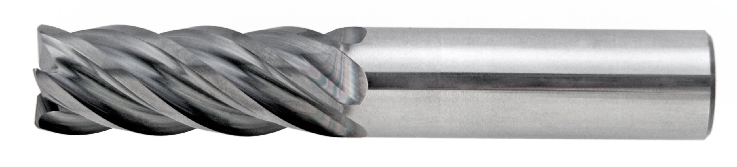 Niagara Cutter N68625 Carbide Square Nose End Mill, Inch, AlCrN Finish, Roughing and Finishing Cut, Non-Center Cutting, 5 Flutes, 2.5'' Overall Length, 0.250'' Cutting Diameter, 0.250'' Shank Diameter