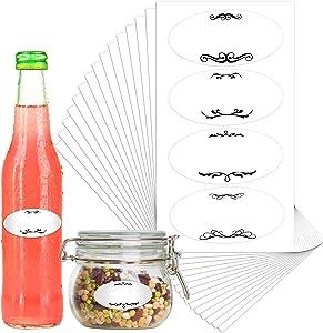 1000 Pieces Canning Jar Labels Removable Freezer Refrigerator Labels Round Food Storage Stickers Reminder with Perforation Line for Mason Bottles Kitchen Restaurant Storage Organization