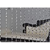 Pindia Fancy Kite Sparkling Plastic Strings Bead Hanging Curtain - 7ft, Silver