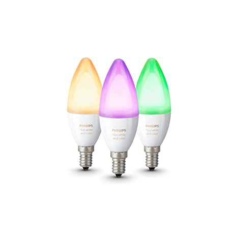 Philips Hue Lampen E14.Philips Hue White And Colour Ambience 3 Pack E14 Amazon Co Uk