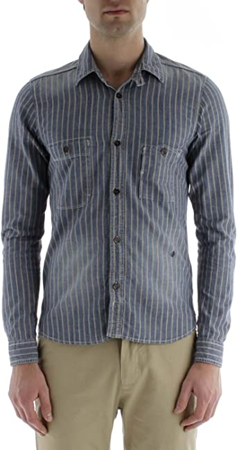 Scotch & Soda - Camisa para hombre, talla 46, color Dibujo B: Amazon.es: Ropa y accesorios