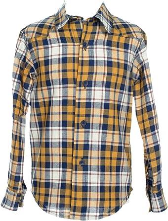 Camisa Niño Manga Larga Cruadros. Tejido 100% Algodón. Camisa ...