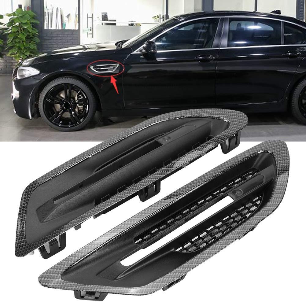 2 St/ück Auto Side Air Flow Vent Grill Abdeckung Carbon Style Trim f/ür M5 F10 F18 10-16 Air Flow Vent