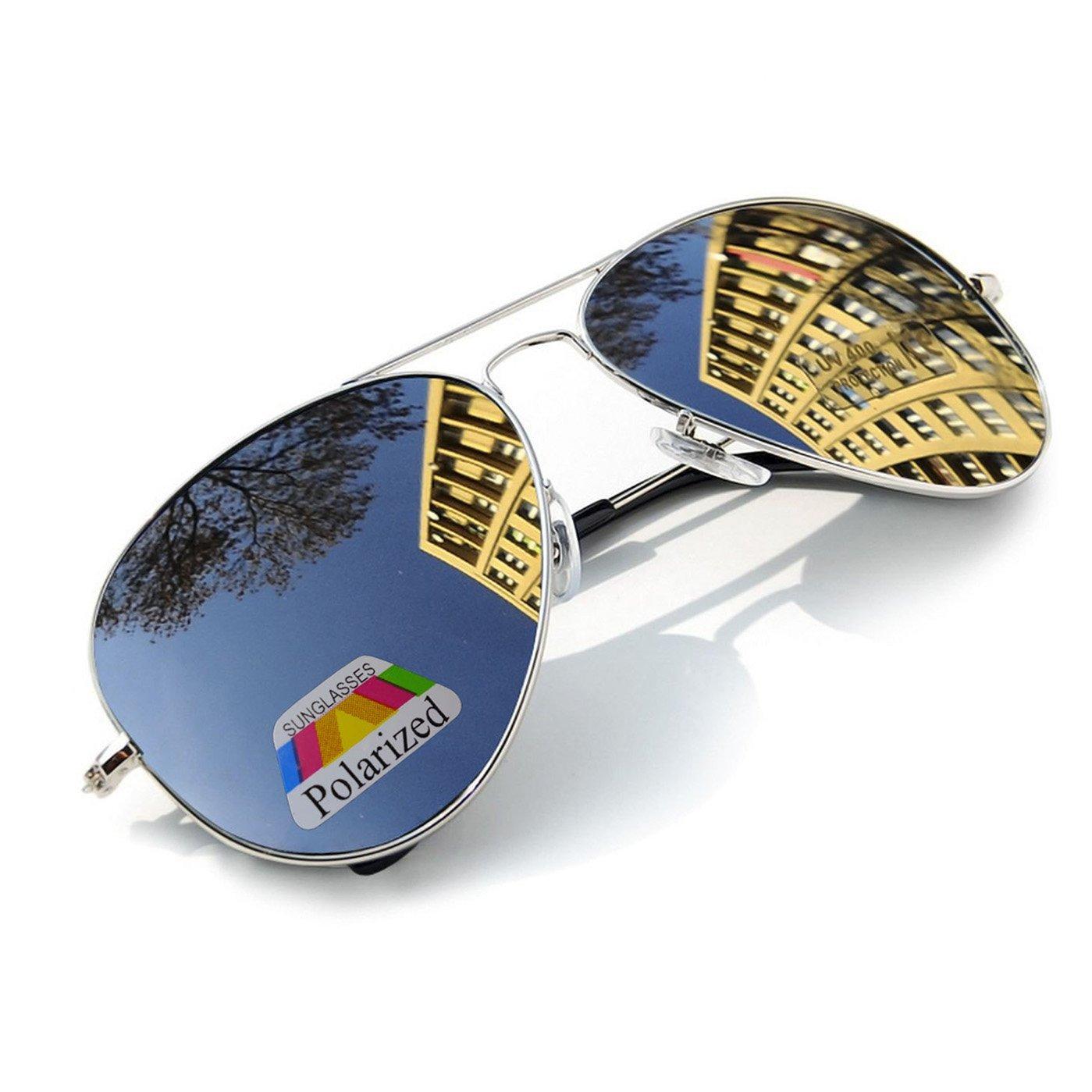 4sold Vintage Retro Original Mirror lens Polarized Sunglasses Glasses Air Force Unisex UV 400 Protection avi 1976 5060474730822