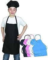 Kids Apron and Kids Chef Hat Set. Adjustable Hat. Fits Childs Size Medium 6-12. Chefocity