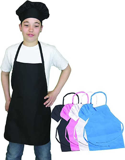 fashion style available latest discount Kids Chef Hat and Apron Set, Children's Kitchen Cooking and Baking Wear  Kit, Kids Size, Free eBook