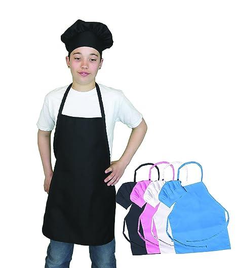Amazoncom Kids Apron And Chef Hat Set Adjustable Hat Fits Childs