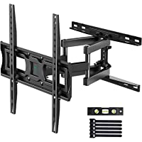 PERLESMITH TV Wall Mount Full Motion for Most 32-55 Inch Flat/Curved TVs with Swivels, Tilts & Extends, Dual…