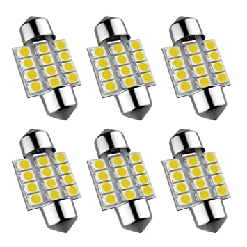 16* Super Bright White LED 6500K Bulb Interior Lights Package Kit Accessories