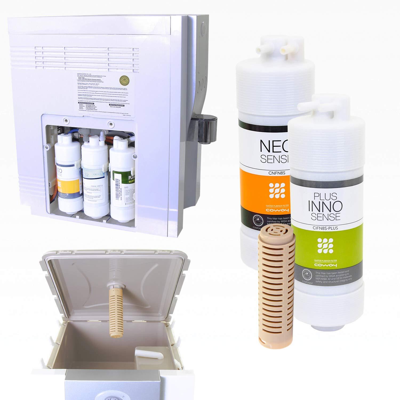 Juego de filtros y cerámica para sistema de filtración Coway CHP ...