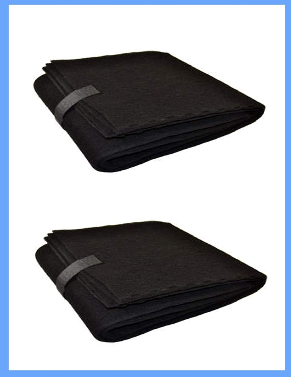 "Compatible Hunter QuietFlo 16"" x 48"" Carbon Pre Filters Cut to fit Pad - 2 Pack by CFS"