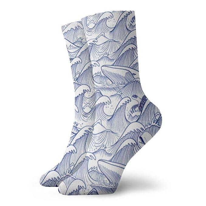 2efb06dbf465 Casual Crew Socks Turbulent Oceans Ankle Socks Short Dress Compression  Socks For Women Men at Amazon Women s Clothing store