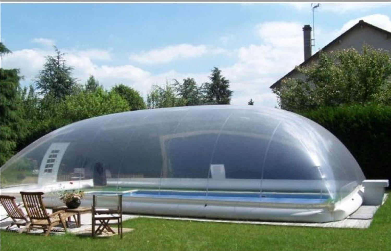 ABRI PISCINE GONFLABLE Abrigo Piscina Hinchable Dome 8 X 5 m ...