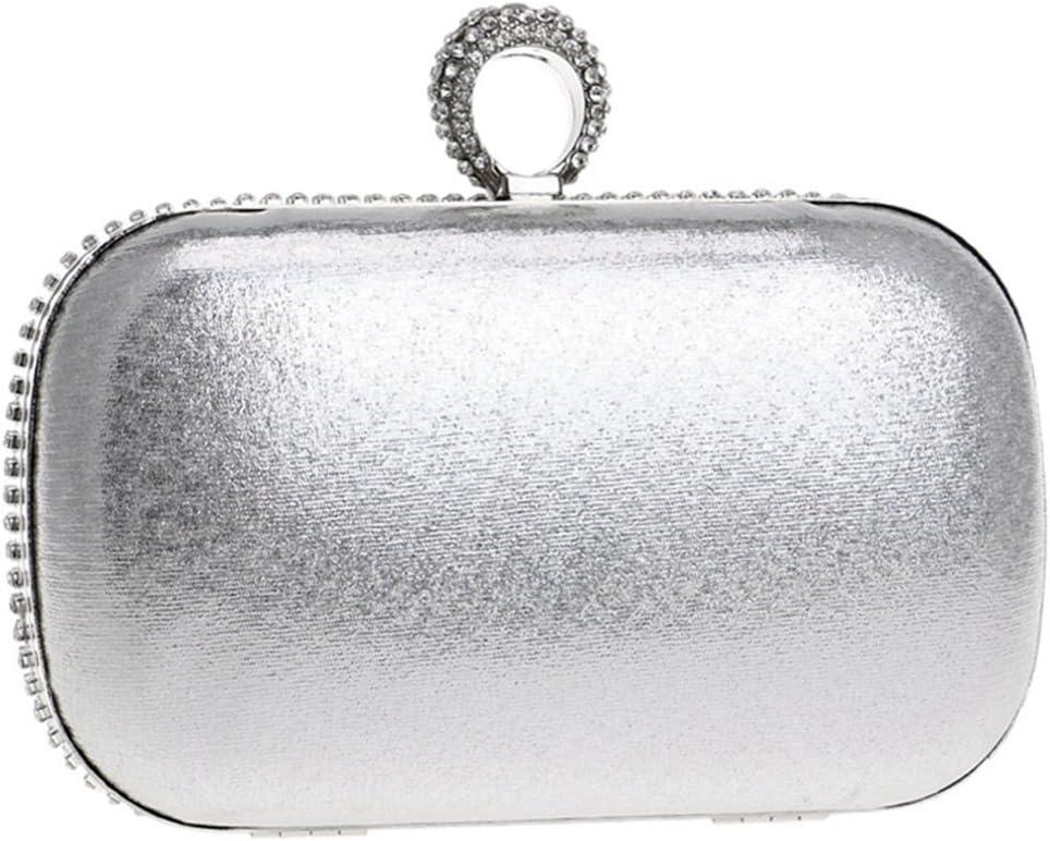 Color : Multicolor 1 GLJJQMY European and American Fashion Ladies Rhinestone Dinner Female Bag Banquet Clutch Bag Wallet Handbag Evening Bags