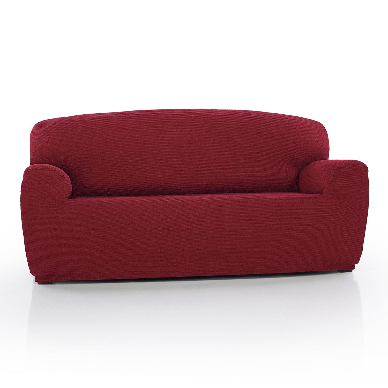Sofabezug Husse Schoner 3-Sitzer Elastisch Bordeaux 180-240 cm