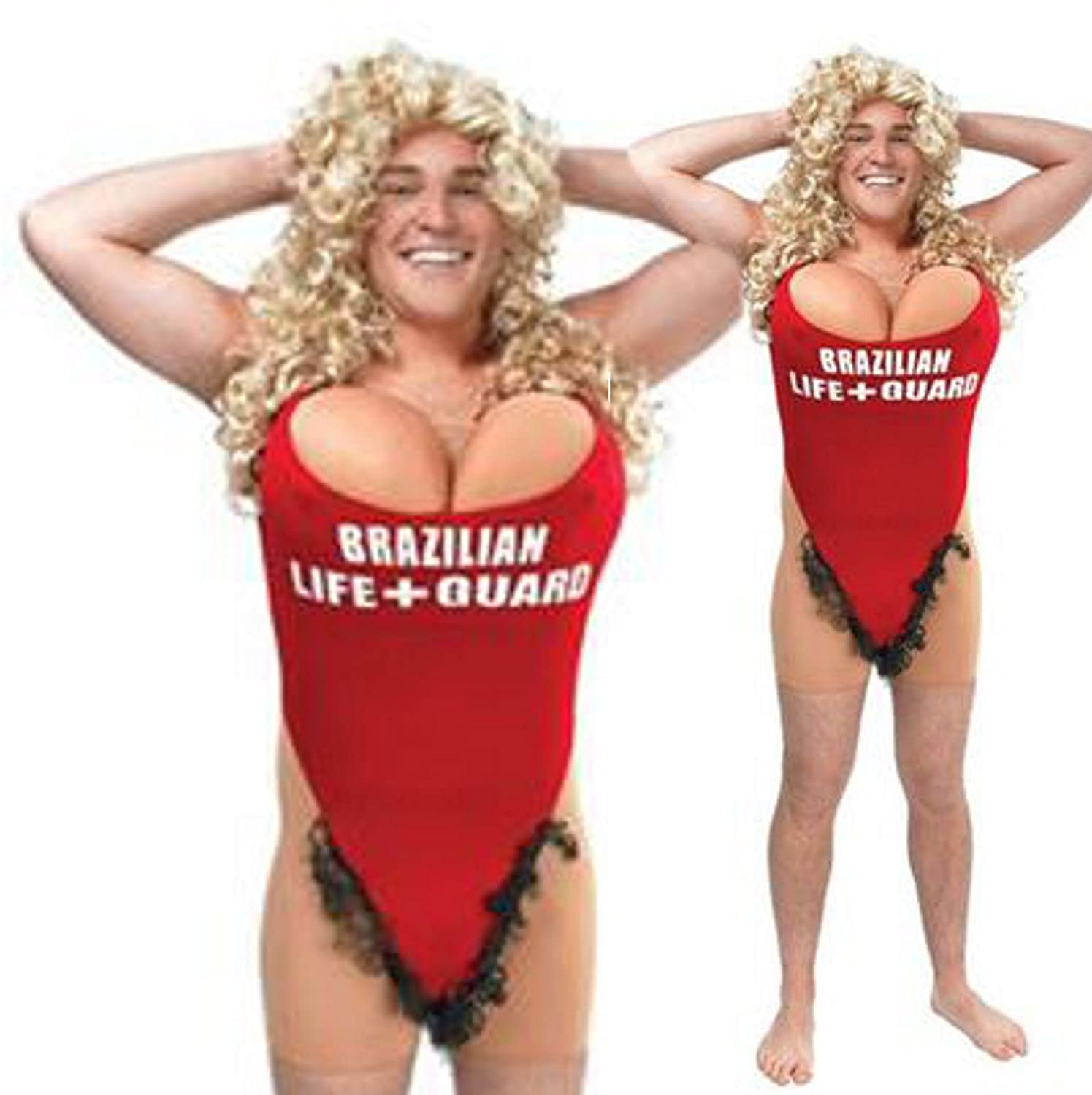 Mens Pamela Lifeguard Pool Beach Babe Stag Night Party Fancy Dress Costume M L Amazoncouk Toys Games