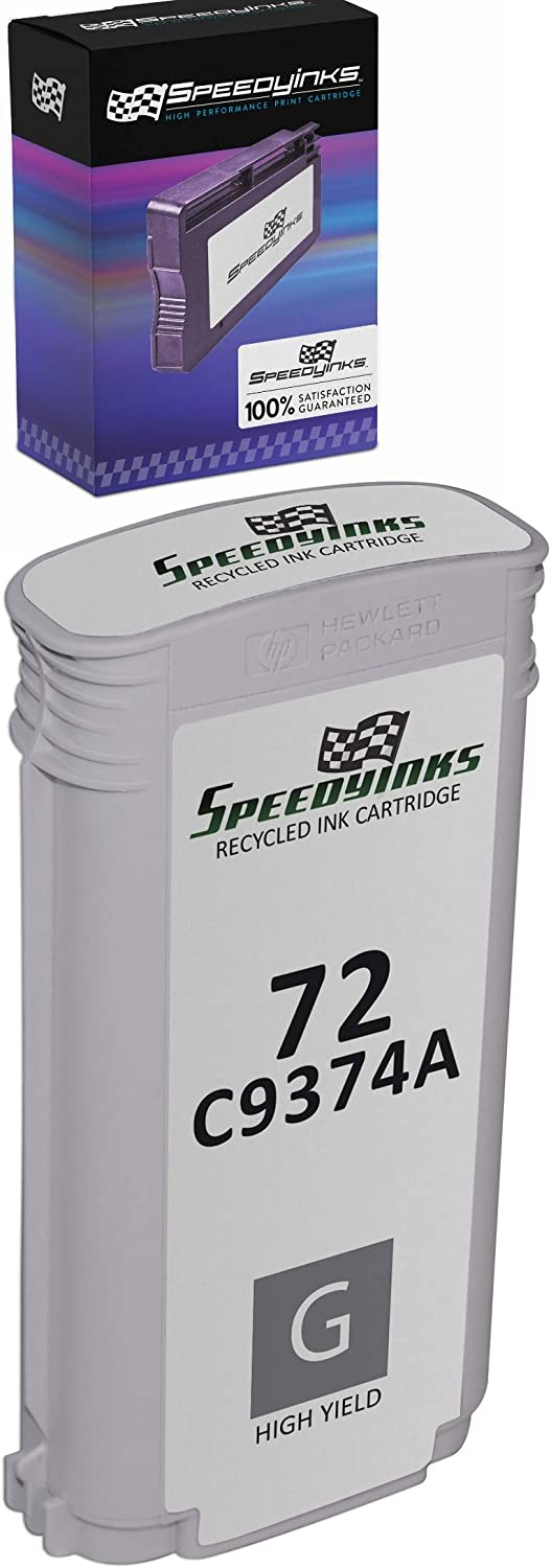 Speedy Inks Remanufactured Ink Cartridge Replacement for HP 72 C9374A High-Yield (Gray)