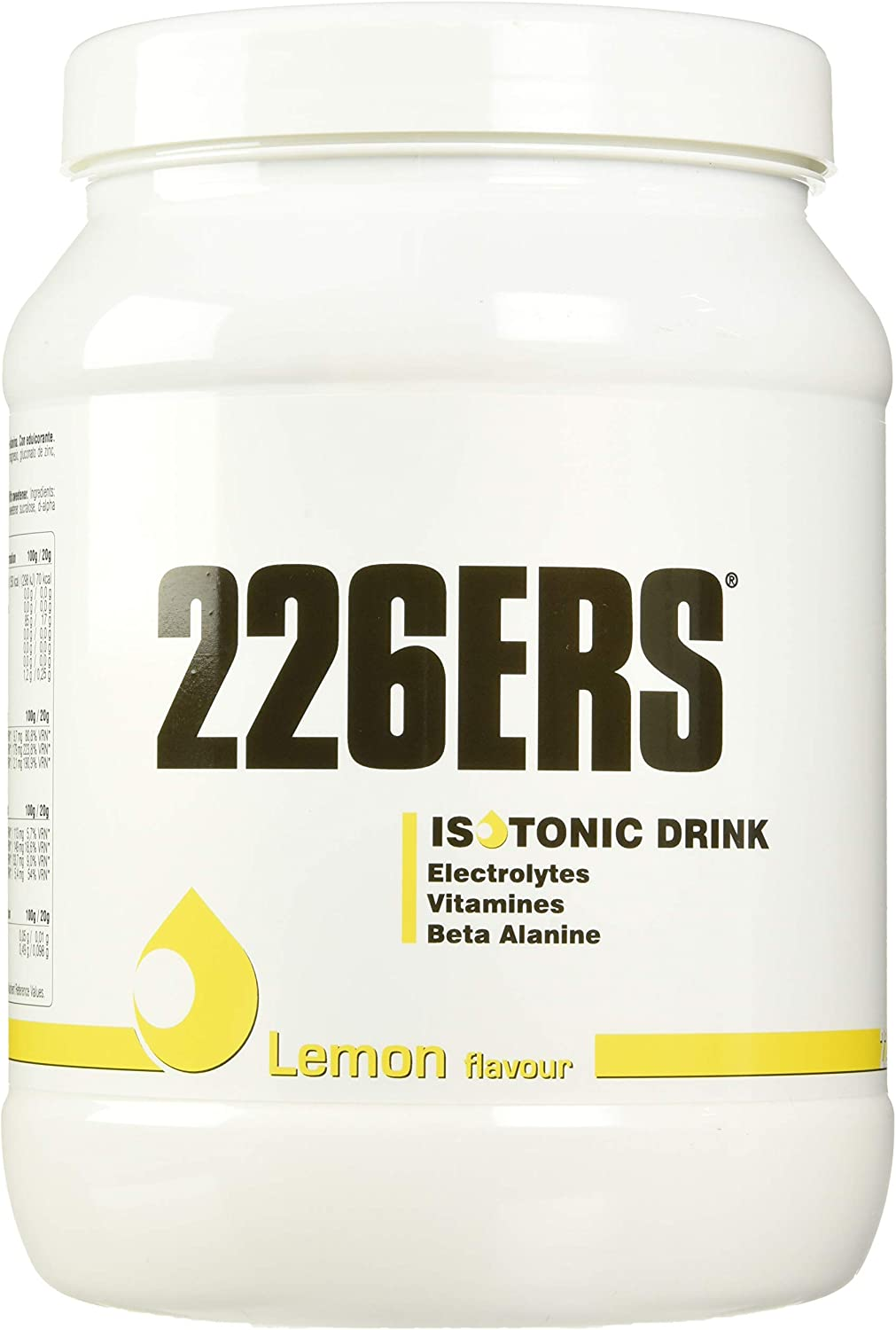 226ERS Isotonic Drink, Bedida Isotónica para Recuperar Sales Minerales, Limón - 500 gr