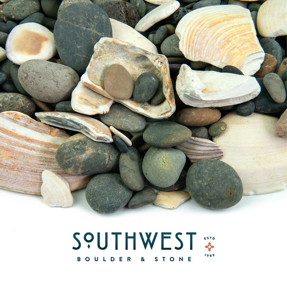 Fire Pit Essentials Mexican Beach Pebbles | 20 Pounds of Smooth Unpolished Stones | Hand-Picked, Premium Pebbles for Garden and Landscape Design | San Quintín, 5/8 Inch - 7/8 Inch