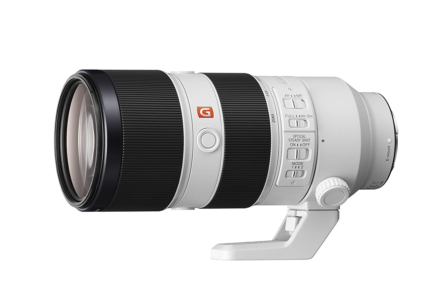 Sony 70-200mm f/2.8-22 FE 70-200mm F2.8 GM OOS Fixed Zoom Lens, White (SEL70200GM)