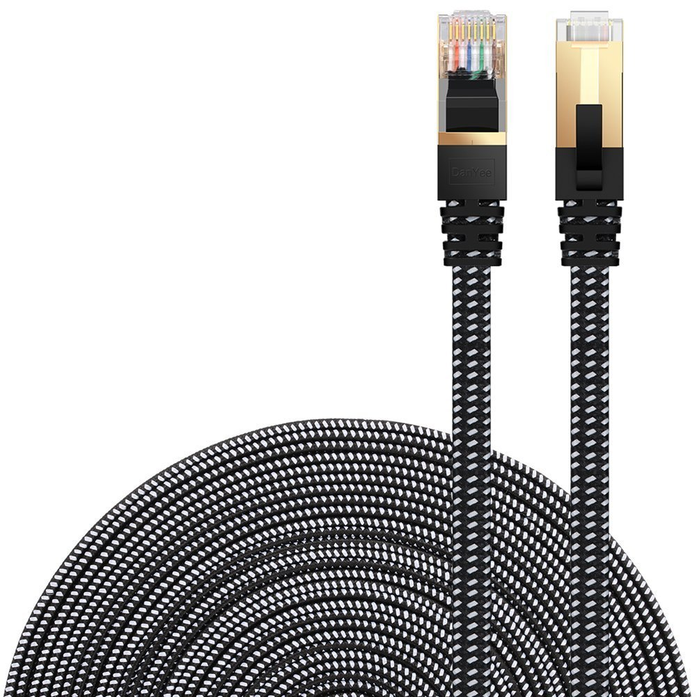 DanYee Cat7 Nylon Ethernet Cable