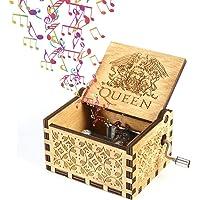 Fewao Queen Caja de música de Madera manivela