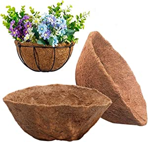 Round Coco Liner, 12inch Basket Shaped Fiber Liners Replacement Hanging Baskets Liners for Flower Basket Balcony Fleshy Plants Flowerpots Home Gardening Decoration