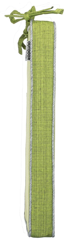 Leinenoptik Uni Schmutz- und Wasserabweisend mit Befestigungsb/ändern Brandsseller Outdoor Garten Sitzkissen Auflagen Kissen mit Paspel 2er-Vorteilspack, Hellgrau 40 x 40 x 4 cm