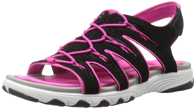 Ryka Women's Glance Athletic Sandal B01KWGR6ZS 10 W US|Black/Pink