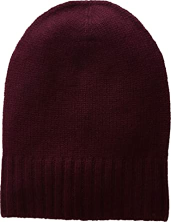 0591cd2da0 Hat Attack Women s Cashmere Slouchy Cuff Hat Burgundy One Size at Amazon  Women s Clothing store