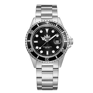 Phoibos hombre px002 C 300 M Buceo reloj Swiss Quartz Negro reloj deportivo: Amazon.es: Belleza