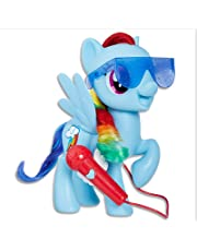 My Little Pony MLP Singing Rainbow Dash Playset, Blue, Red, Yellow, Green, Height: 26 cm