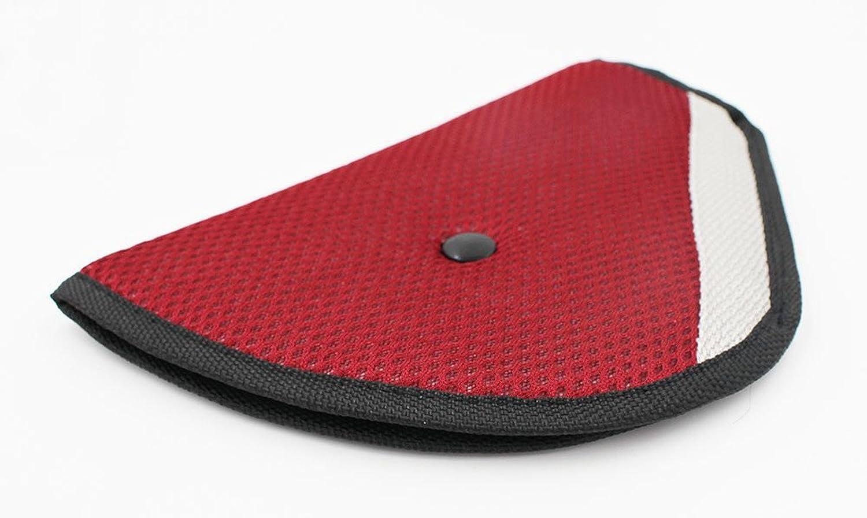 Red Wittyware 2 pcs Seat Belt Adjuster for Children Kids Adults Safety Belt Cover Strap Shoulder Belt Pad Clips
