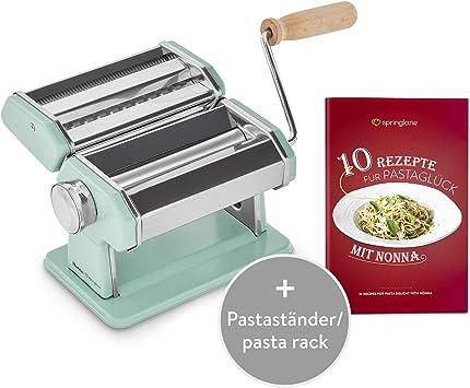 Nudelmaschine Edelstahl Pastamaschine Pastamaker Spaghetti Lasagne Tagliatelle