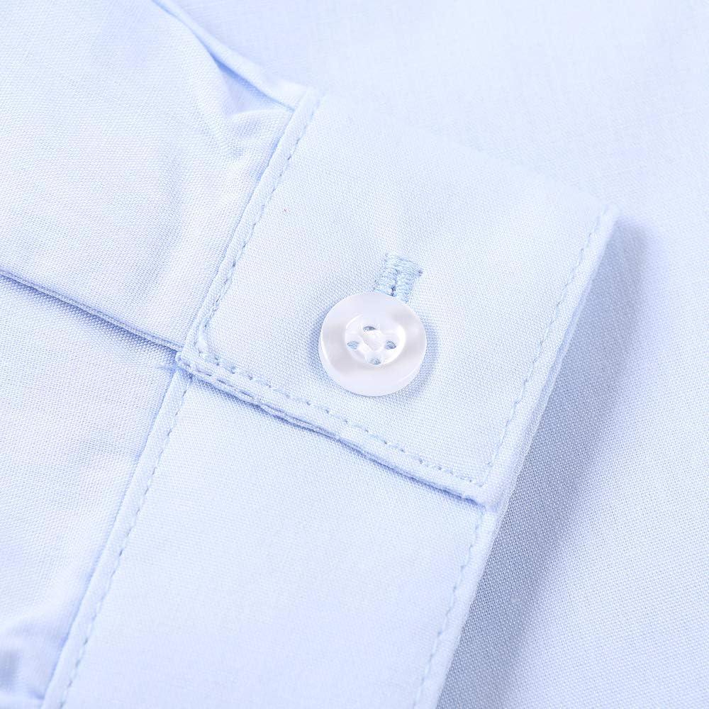 OCHENTA Little Big Boys Long Sleeve Button Down Dress Shirt