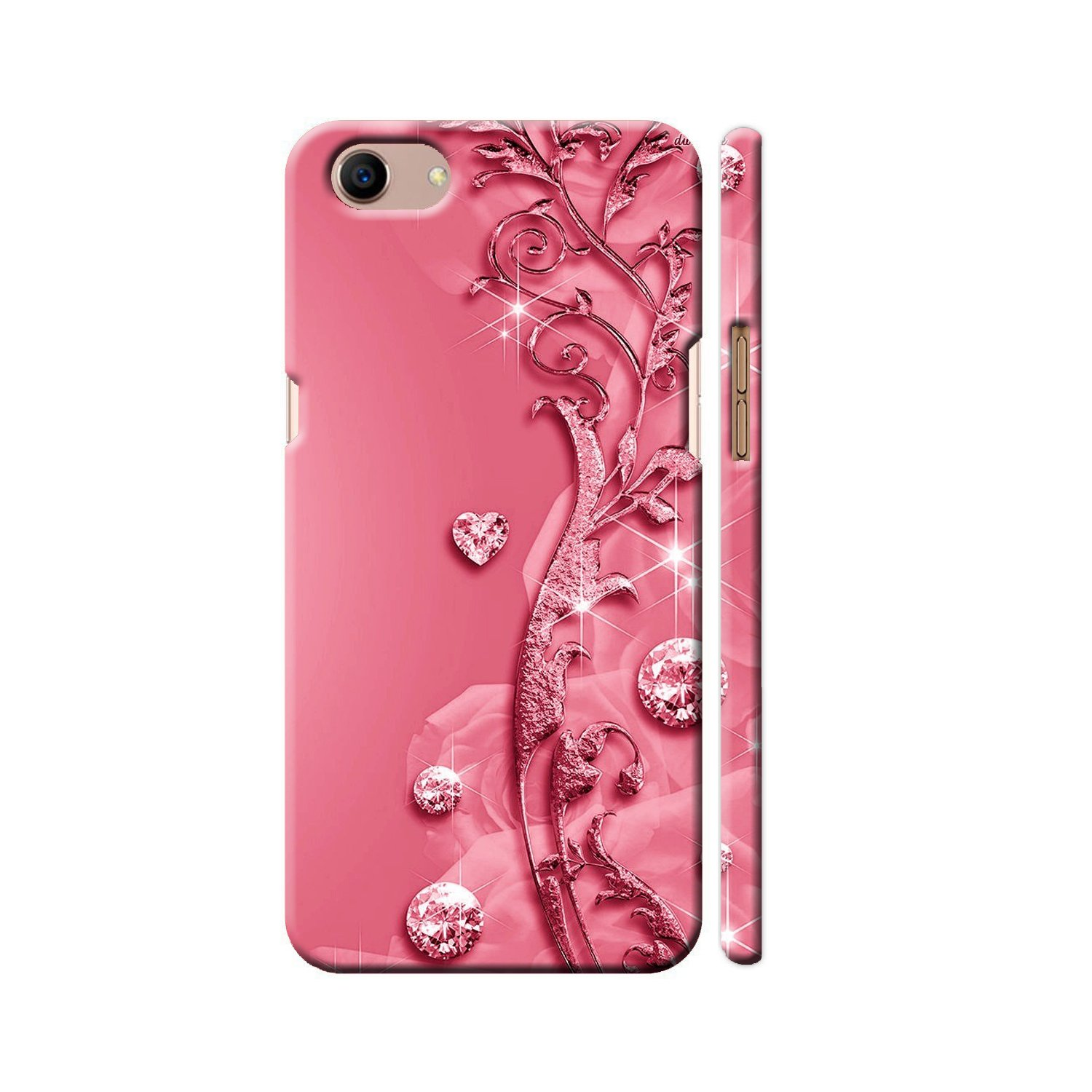 hot sale online e5372 db790 Clapcart Oppo A83 Designer Printed Back Cover for Oppo A83 / Oppo A 83  -Pink Color (Heart Design Print For Girls)