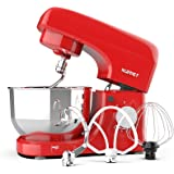 Kuppet Stand Mixers, 8-Speed Tilt-Head Electric Food Stand Mixer with Dough Hook, Wire Whip & Beater, Pouring Shield, 4…