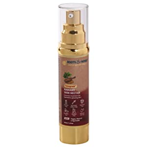 ROOTS AND HERBS Ayurvedic Natural Treatment 100% Vegan Fenugreek Skin Food Serum and Moisturiser for Face and Neck, 30 ml